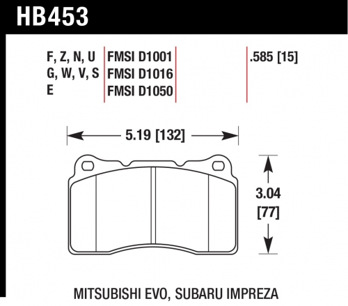 HB453N.585 HP Plus Brake Pads